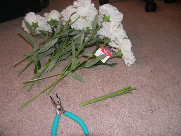 Instructions On How To Make A Bouquet With Silk Flowers Wedding Bridesmaids Carnations Diy