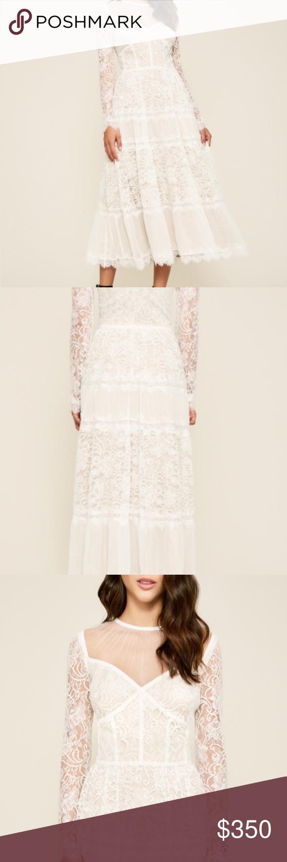 Tadashi Shoji Tatiana Long Sleeve White Lace Dress White Lace Long Sleeve Dress Lace White Dress Lace Dress [ 1740 x 580 Pixel ]