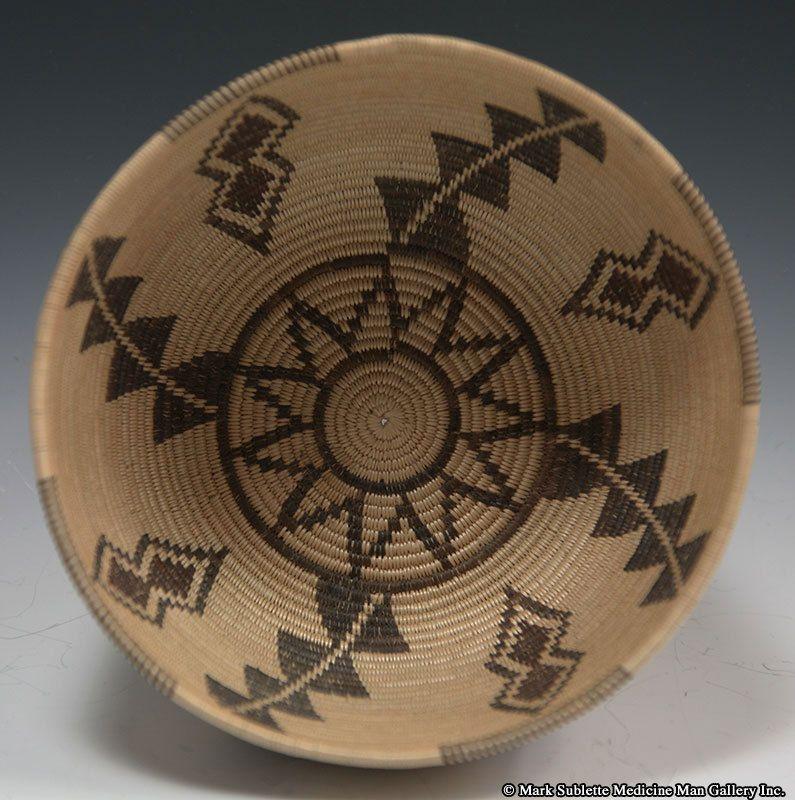 California Native American Indian Baskets, - Panamint Polychrome Basket