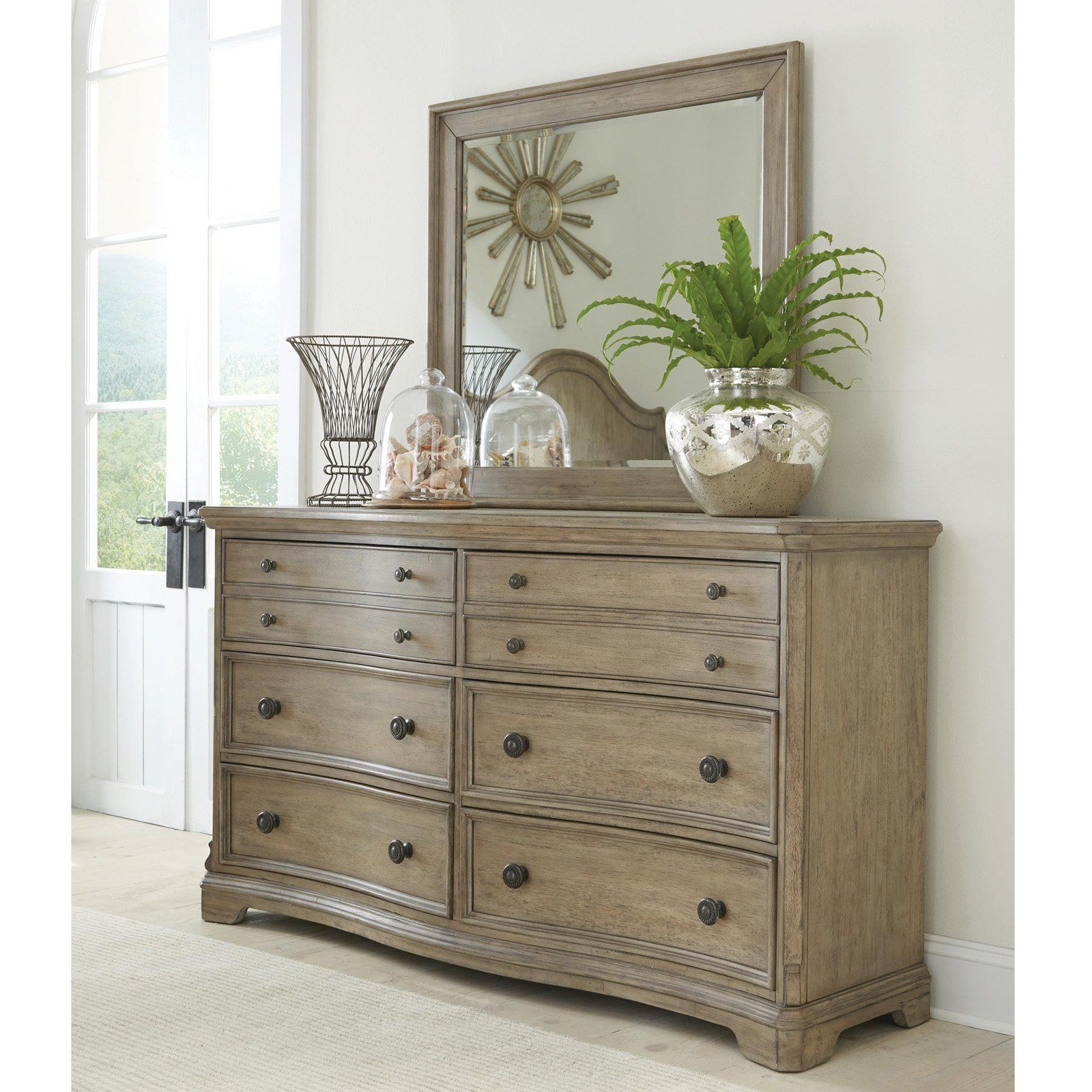 Riverside Corinne 6 Drawer Dresser with Optional Mirror | from ...