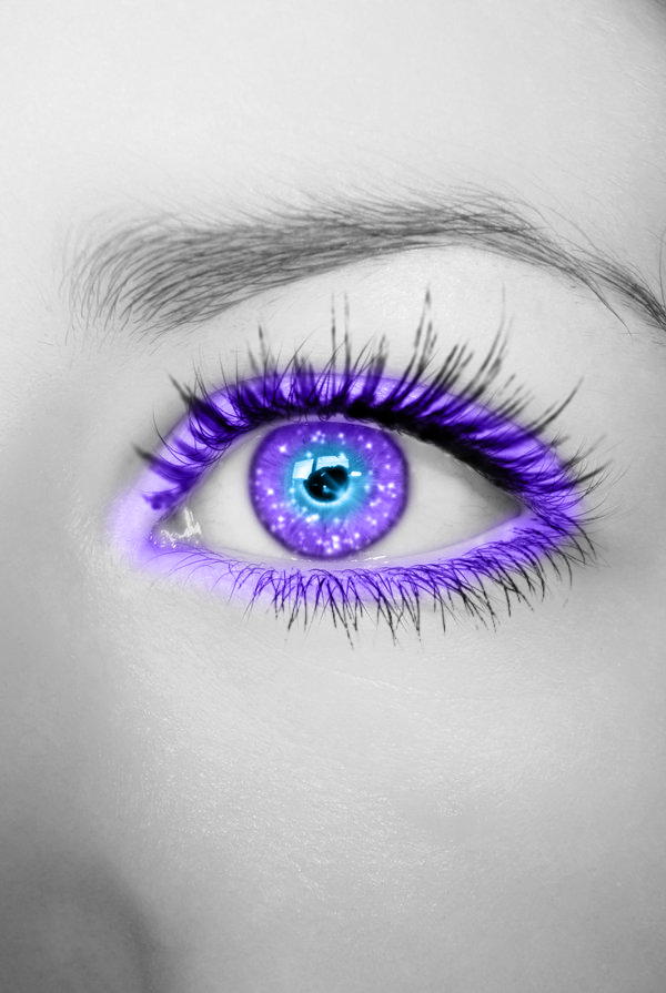 Purple Blue Glittering Eye By Crazy Kiwii On Deviantart