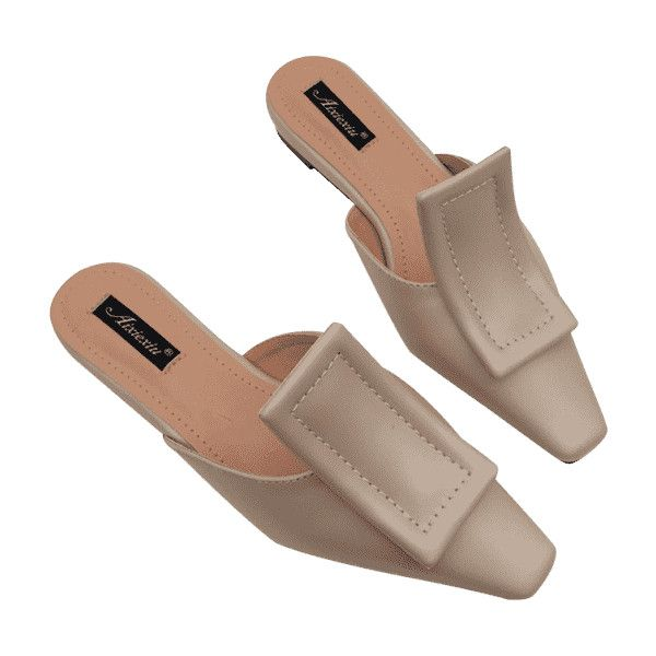 Narrow Square Toe Mules Shoes (115 MYR) liked on Polyvore ...