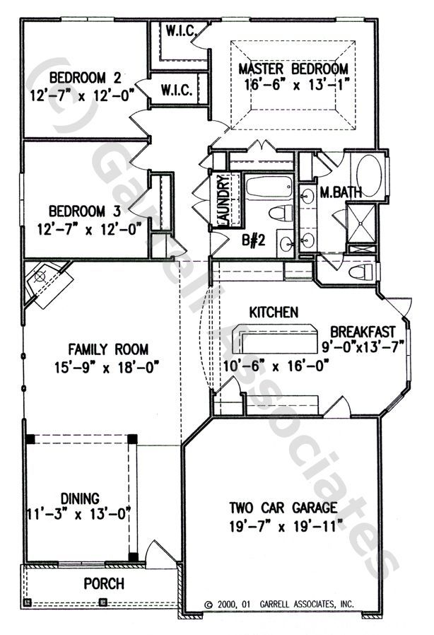 Narrow Rancher Floor Plans House Plans One Story Ranch Style House Plans House Plans