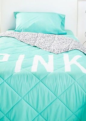 Pink Victoria Secret Bed Set | VICTORIAu0027S SECRET PINK LEOPARD Bed In A Bag  TWIN COMFORTER XL SHEET .