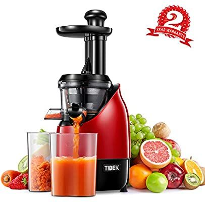 Details about New Slow Masticating Juicer Cold Press Extractor Fruit Vegetable Red