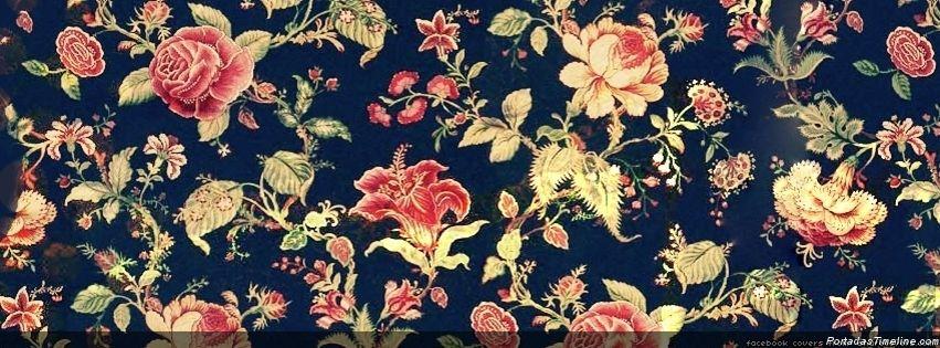 Fondo de flores vintage con frases