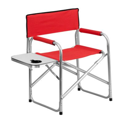 Offex Folding Camping Chair Seat Color: Red
