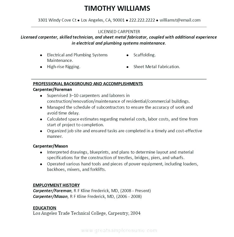 30 Welder Fabricator Resume Sample With Images Job Resume