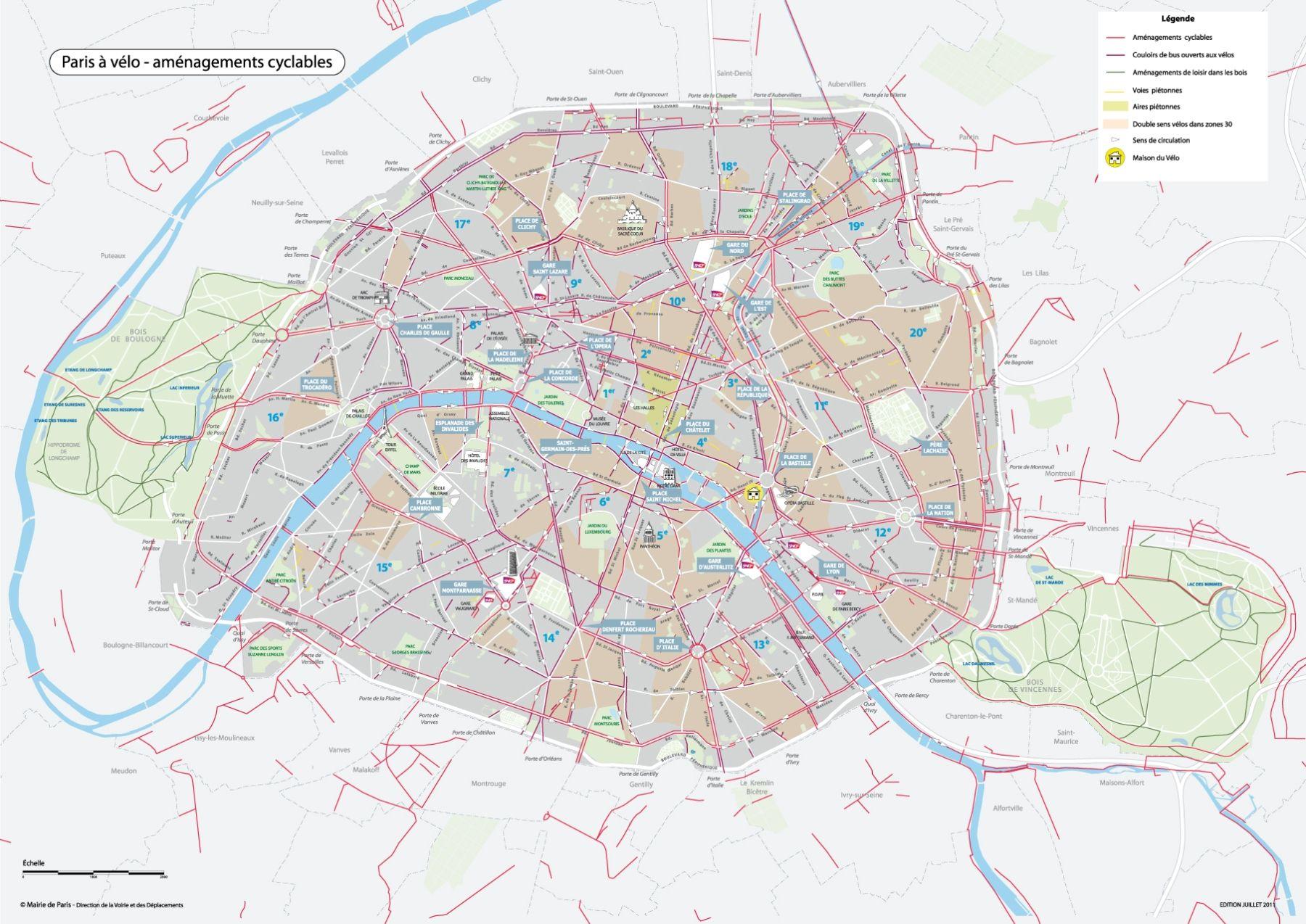 20% du Plan Vélo déjà réalisé avant la fin de l'année   Paris, Piste cyclable et Cartes