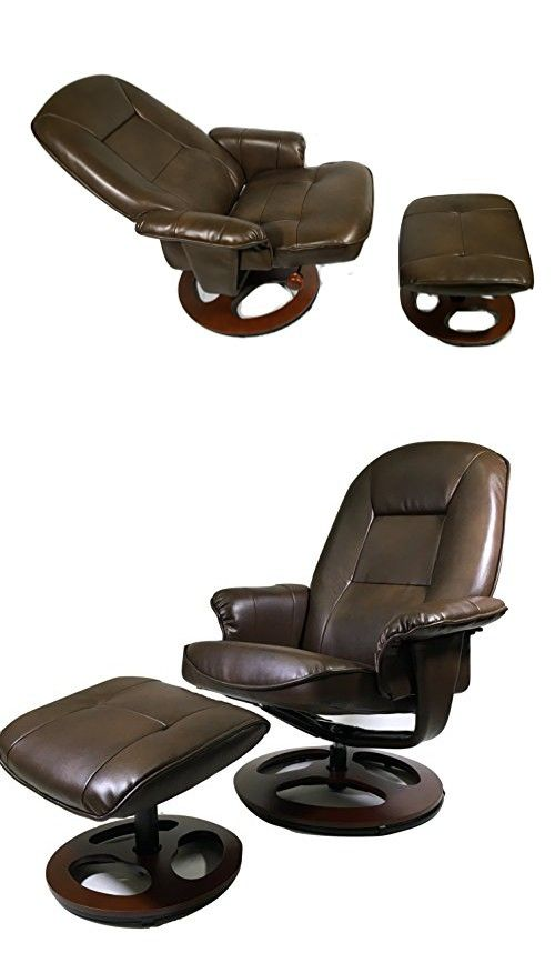 Montrose Light Chocolate Vegan Leather Swiveling Recliner Chair and Ottoman  sc 1 st  Pinterest & Montrose Light Chocolate Vegan Leather Swiveling Recliner Chair ... islam-shia.org