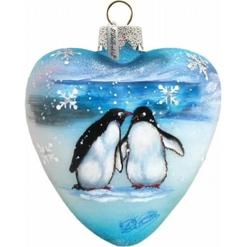 G-Debrekht-73431-Holiday-Splendor-Glass-Penguins-Pals-Heart-3-in-Glass-Ornament