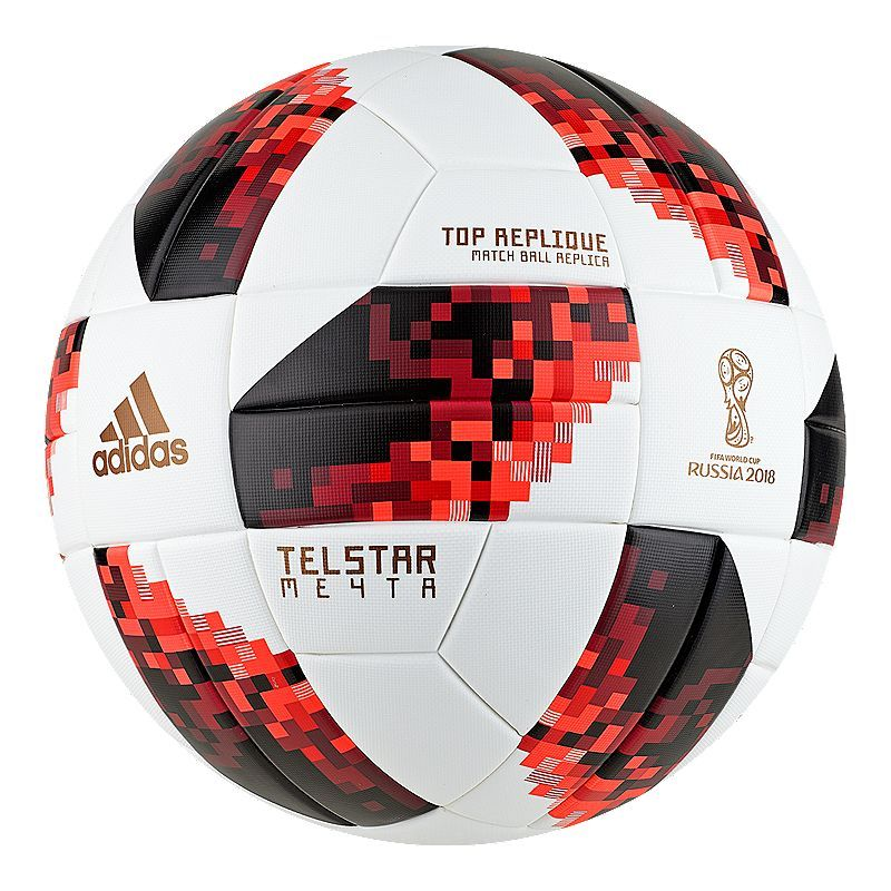 check out e76ab 0cb59 adidas World Cup Knockout Top Replique Soccer Ball - White Solar Red Black