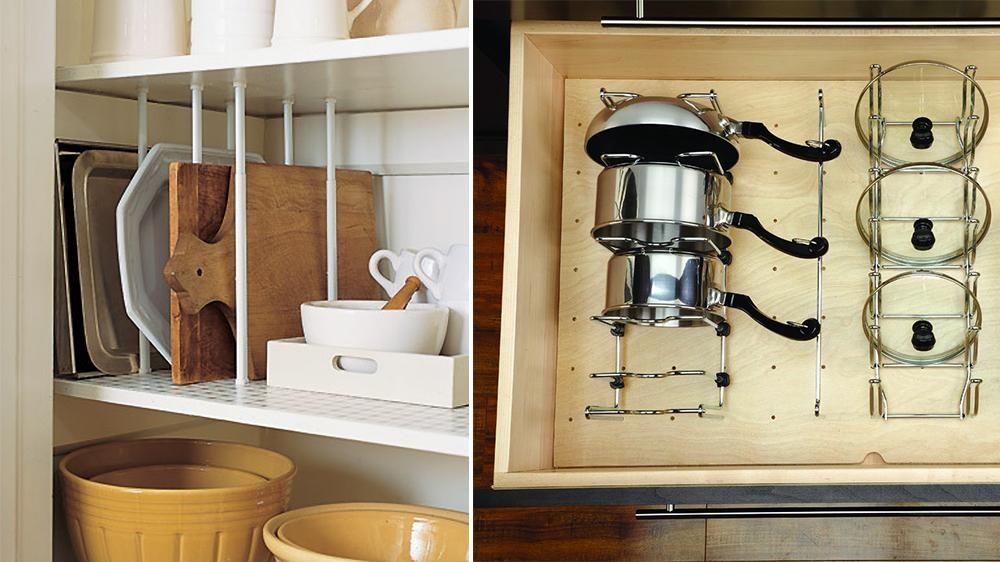 5 fa ons de ranger ses couvercles de casserole rangement cuisine deco cuisine et organisation. Black Bedroom Furniture Sets. Home Design Ideas