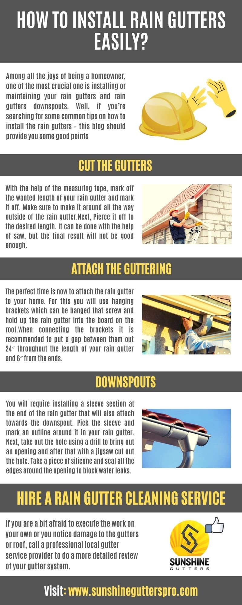 How To Install Rain Gutters Easily In 2020 Rain Gutters Rain Gutter Installation How To Install Gutters