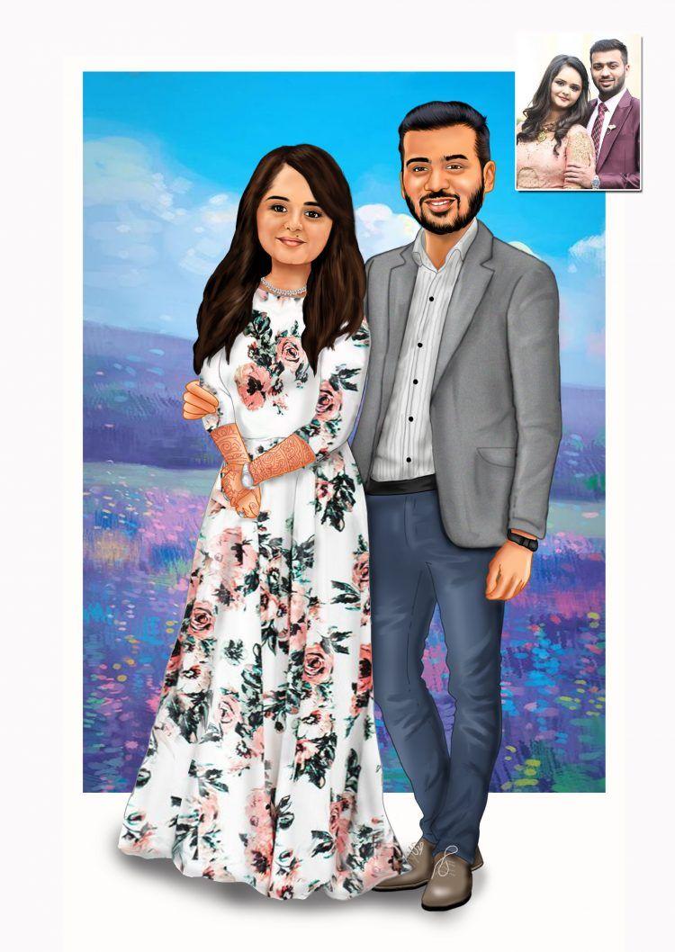 Wedding Caricature And Animated Wedding Video Invitation Maker We Design Your Weddin Wedding Caricature Wedding Invitation Video Caricature Wedding Invitations