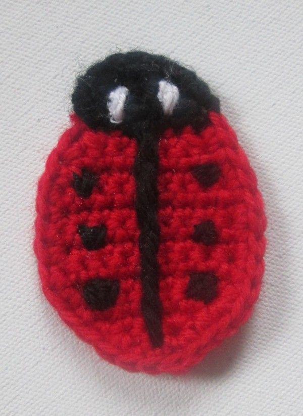 Marienkäfer Applikation | Häkeln crochet | Pinterest | Marienkäfer ...