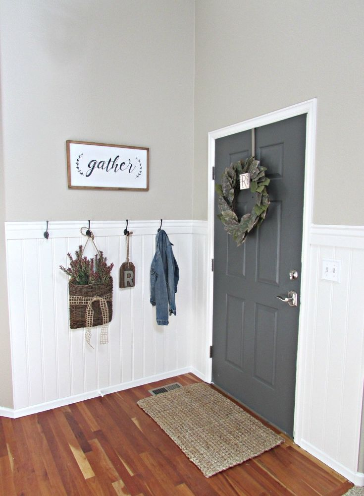 DIY Beadboard in the Entry images