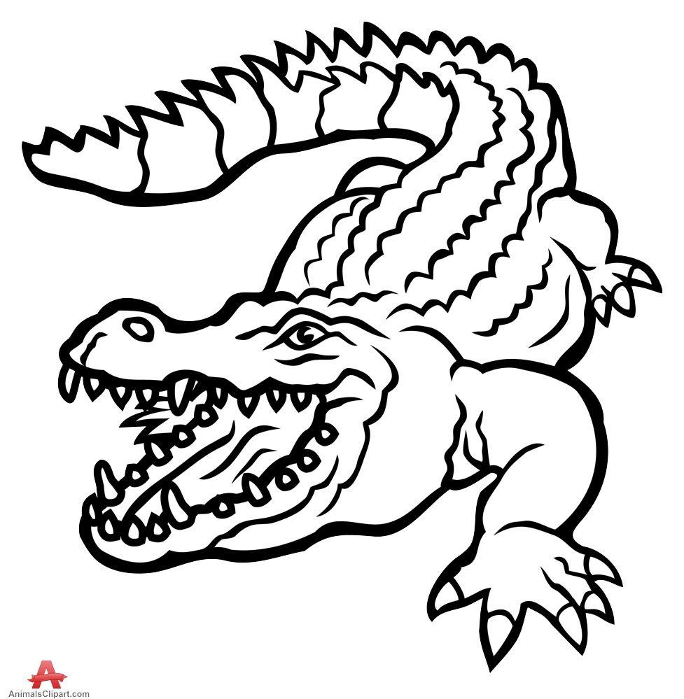 Kostenlose Malvorlagen Krokodil