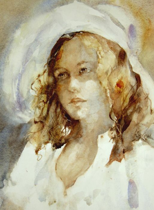 Jeune Fille Au Chapeau Br 30x41cm Portrait Dessin Portrait