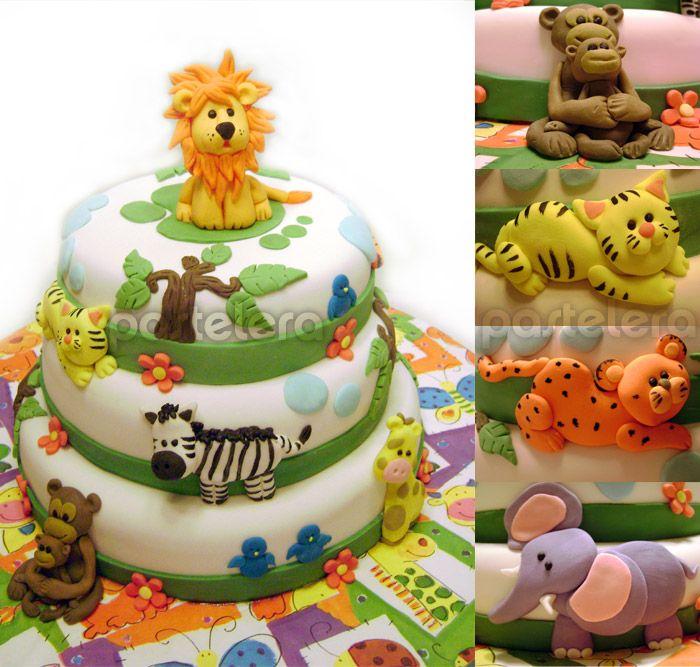 Tortas con animales de la selva imagui cumple mati for Decoracion de tortas caseras