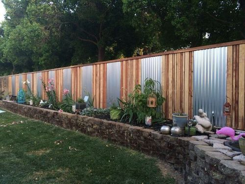 Lovely S 15 Privacy Fences That Will Turn Your Yard Into A Secluded Oasis, Curb  Appeal, Fences, Accent An Ordinary Fence With Sheet Metal