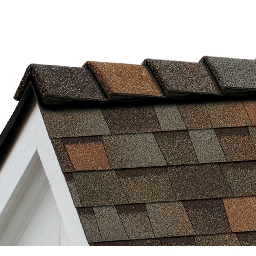 Owens Corning Decoridge 20 Lin Ft Aged Copper Hip And Ridge Roof Shingles Lowes Com In 2020 Copper Roof Ridge Roof Brick Roof