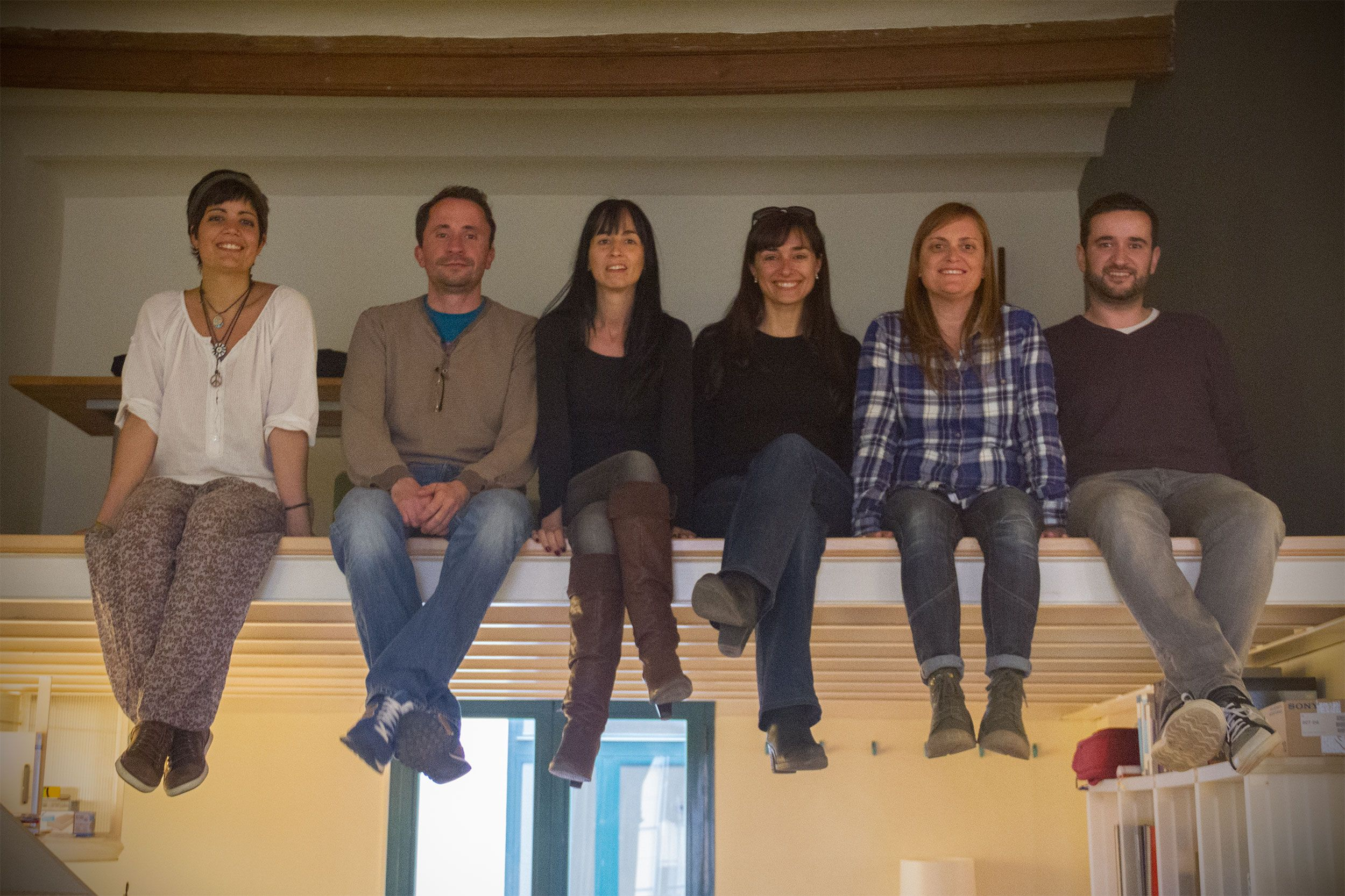 El equipo de Andando Producciones en nuestra sede