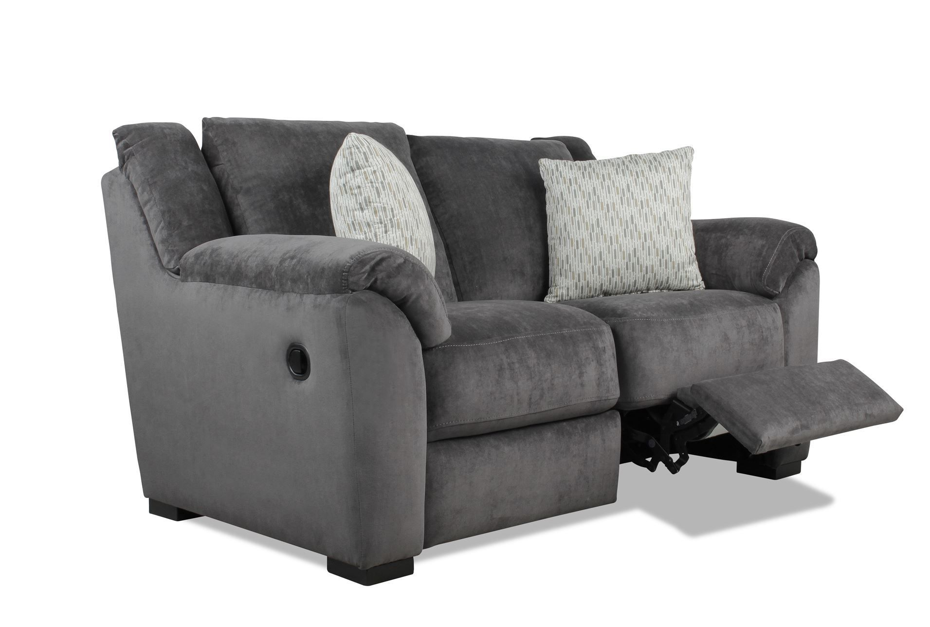 Tribecca Home Eland Black Bonded Leather Sofa Set Boconcept Sofas Uk Nova Fabric Double Reclining Loveseat Living Room