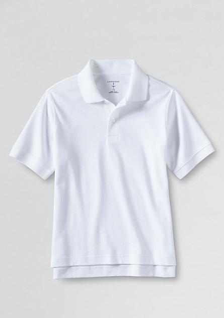687d76ca School Uniform Big Kids' Short Sleeve Solid Performance Interlock Polo Shirt  GIRLS