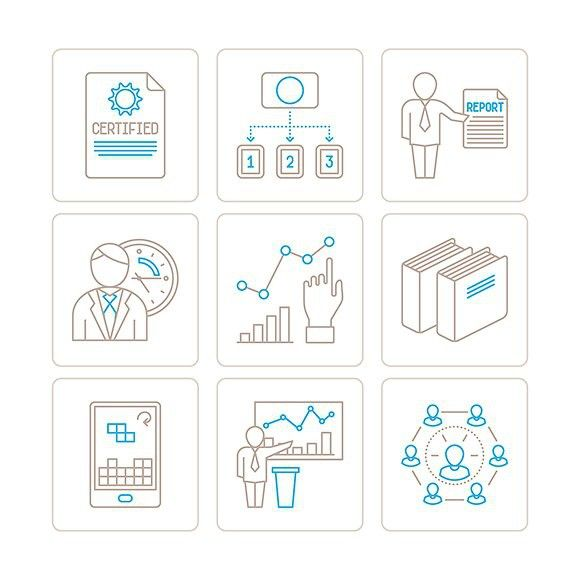 Business & finance lineart icons. Business Infographic. $5.00