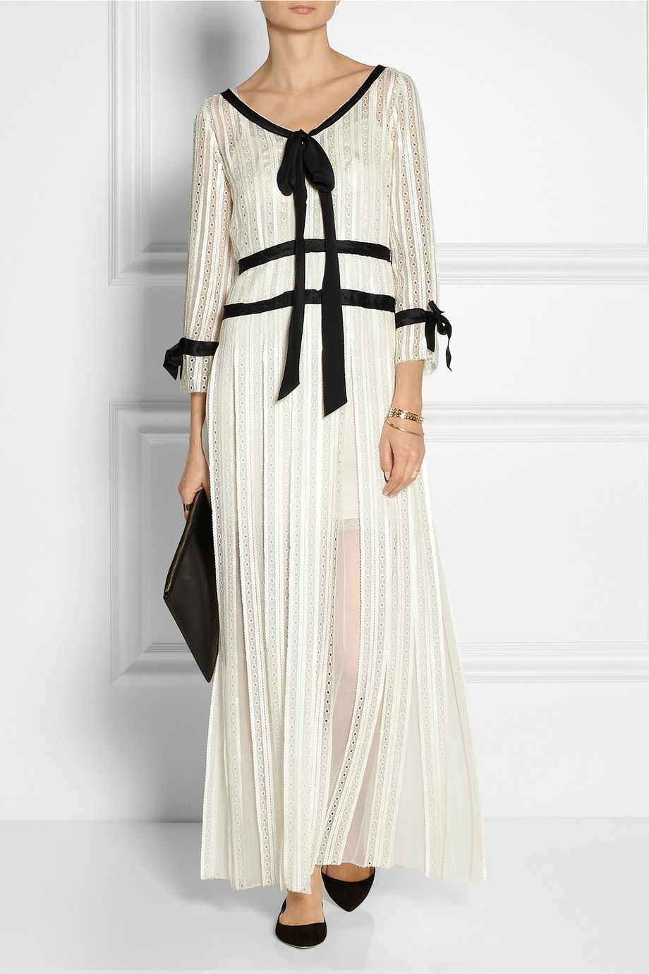 d499897fa Marc Jacobs | Embellished eyelet-chiffon maxi dress | NET-A-PORTER.COM