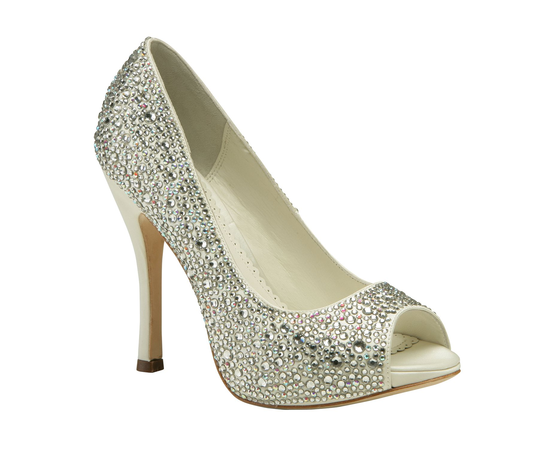 0ae443afc7b6 Gorgeous Swarovski crystal encrusted court shoe by Benjamin Adams available  at Pink Confetti