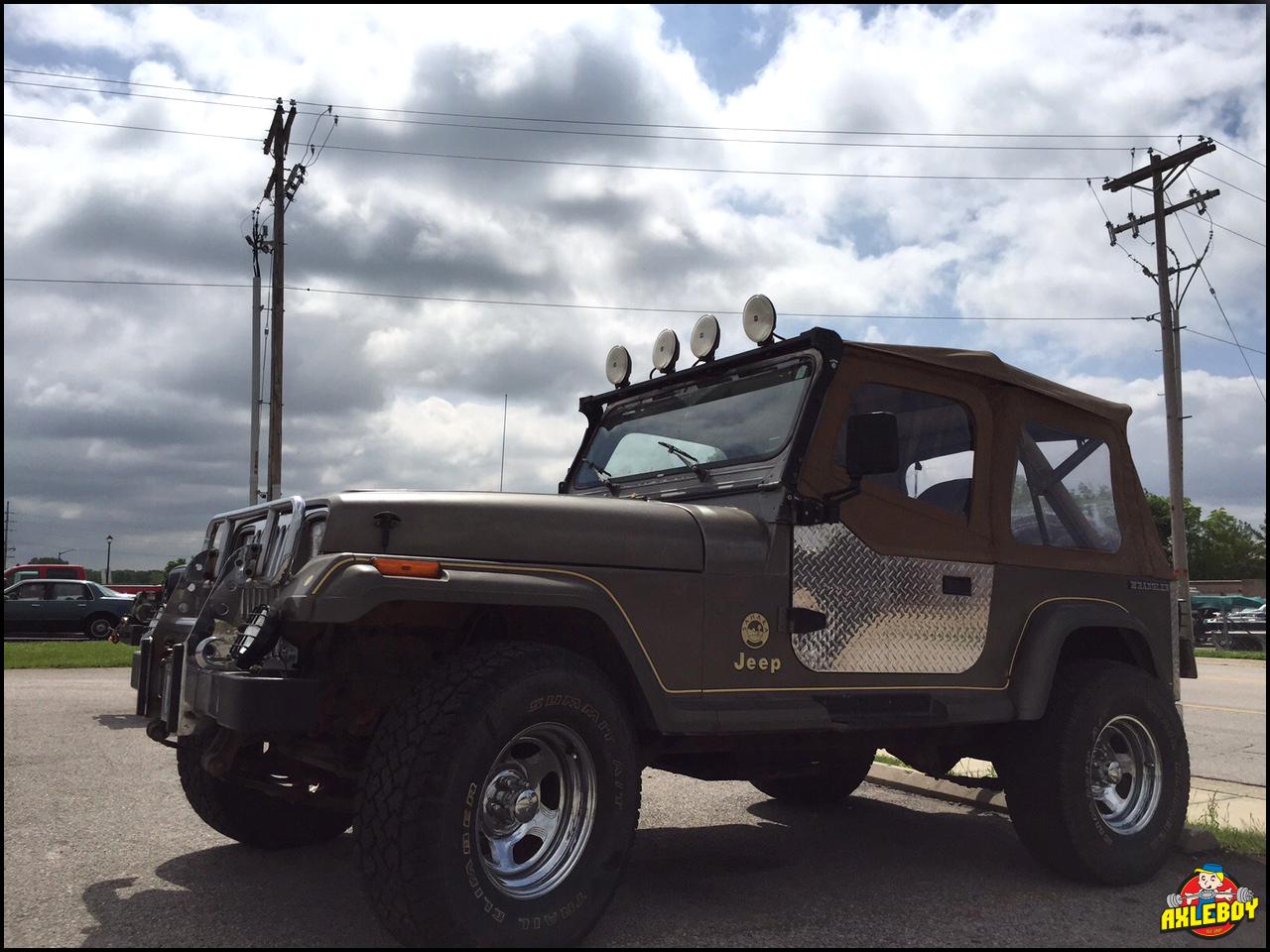 1989 jeep wrangler sahara yj dropped off at axleboy for
