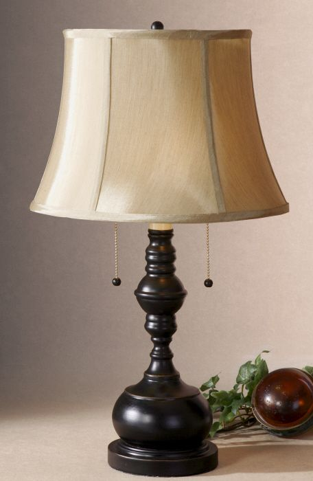 I love this little lamp from Uttermost, only 24 inches tall, great for small places.