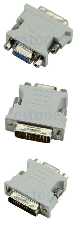 [Visit to Buy] VGA 15 Pin PC Laptop Female 24+1 pin to DVI