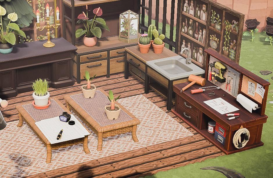 My Outdoor Crafting Station Animalcrossing Animal Crossing 3ds New Animal Crossing Animal Crossing