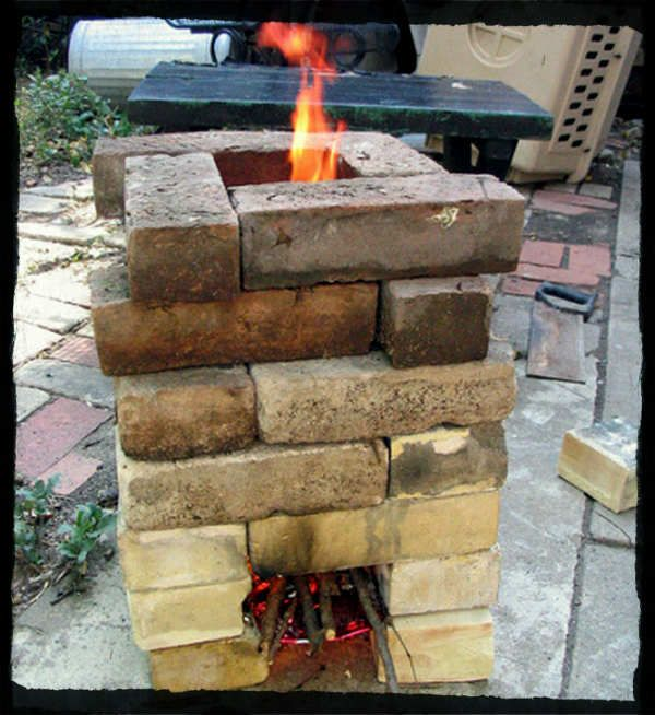 How to build a rocket stove 6 different plans shtf for How to make a rocket stove with bricks