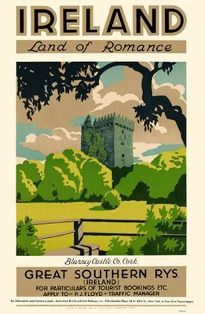 Vintage Ireland Travel Posters Vintage Ireland Vintage Travel Posters