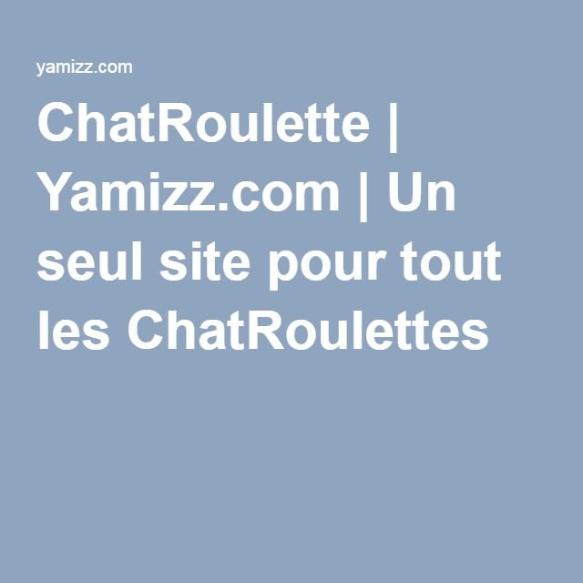 Chatroulette italy