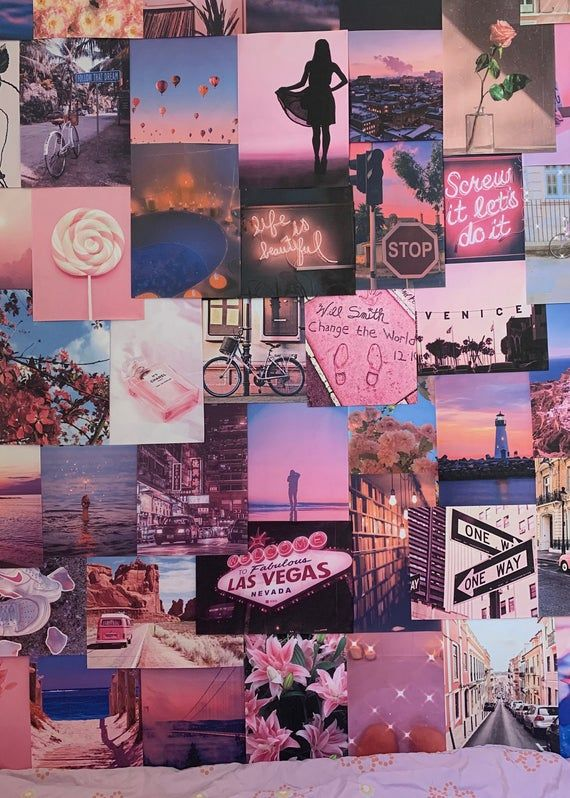 Pink Aesthetic Pretty Retro Wall Collage Kit Vsco Vintage Room Decor Large Size Prints Photos Pictures In 2020 Wall Collage Decor Picture Wall Bedroom Bedroom Wall Collage