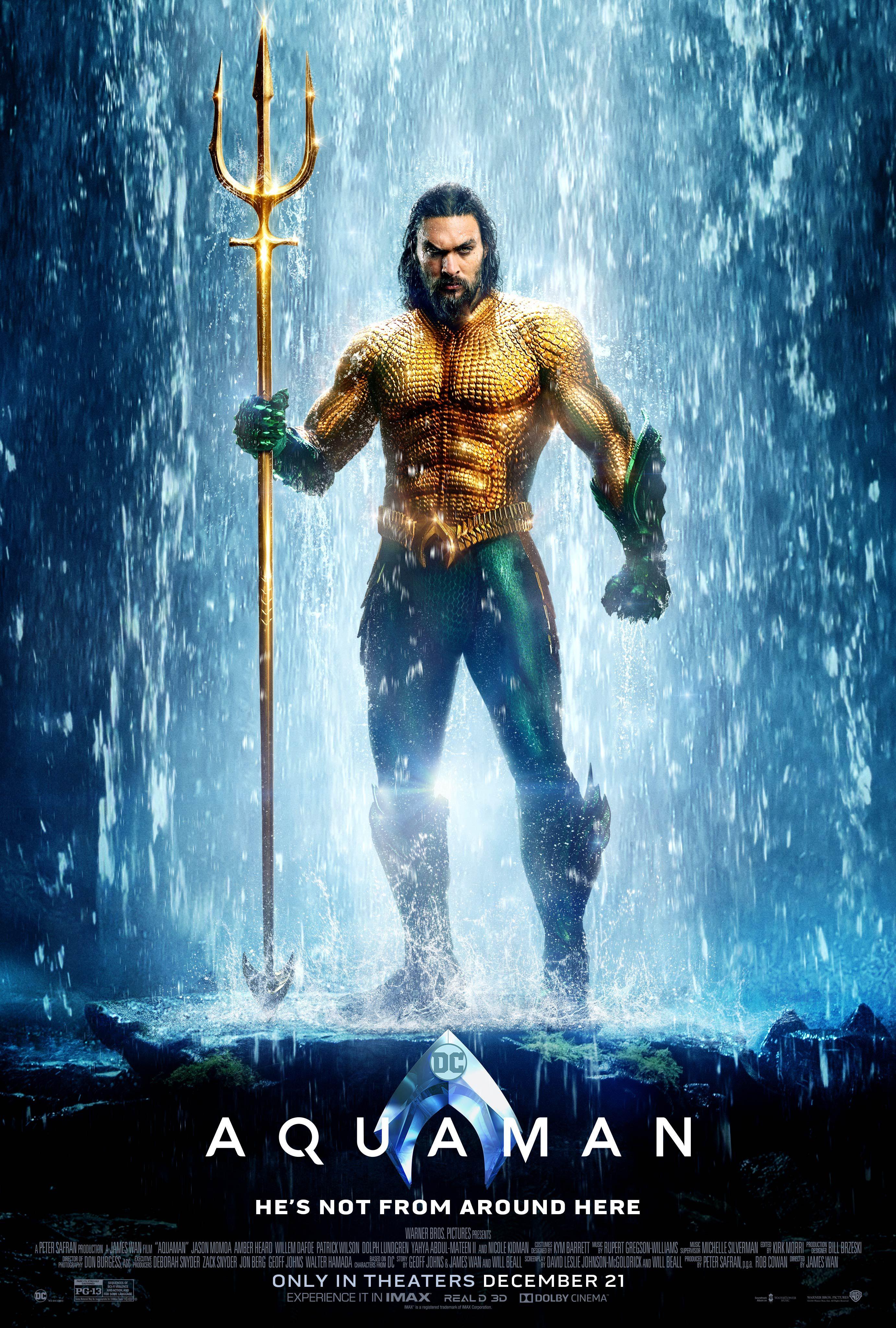 Aquaman Starring Jason Momoa In Theaters 21 2018 Aquaman Film Aquaman Aquaman 2018