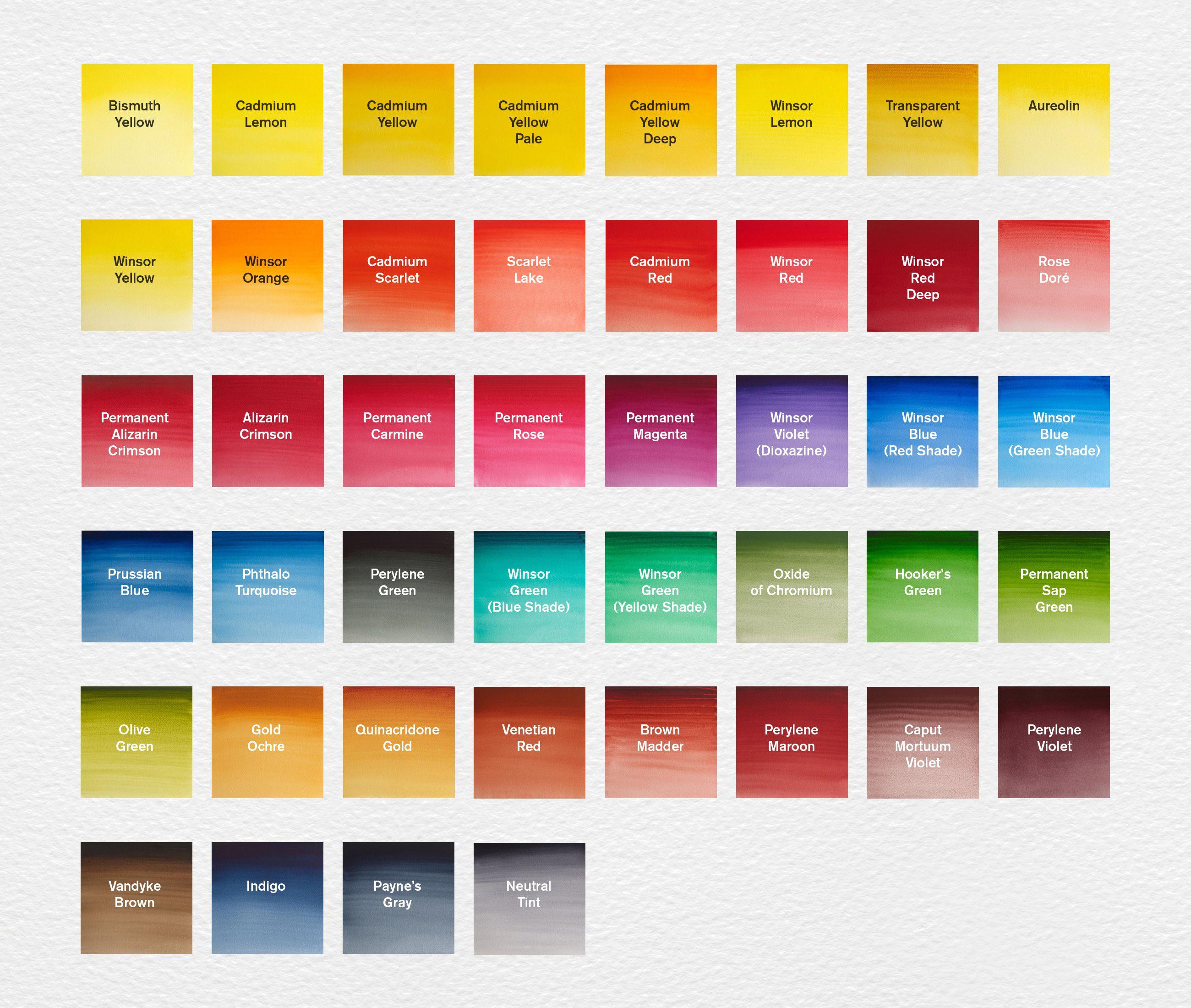 Color Swatches Watercolor Palette Watercolor Lessons