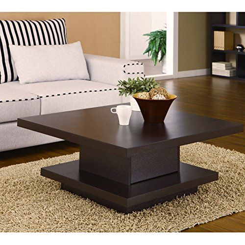 Wakrays Square Cocktail Table Coffee Center Storage Living Room Modern Furniture Modern Furniture Living Room Table Decor Living Room Center Table Living Room
