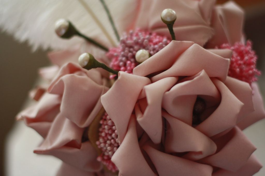 Cascading Fabric Flower Bouquet Tutorial Study   Flower Making ...