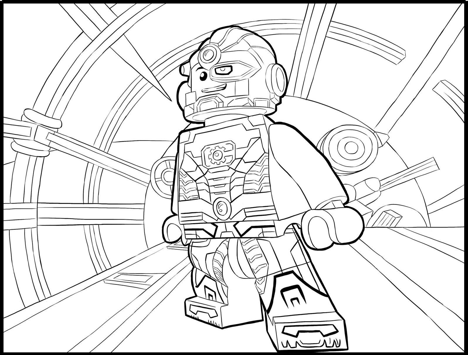 Lego Cyborg Coloring Sheet | DC Comics Coloring Pages | Pinterest