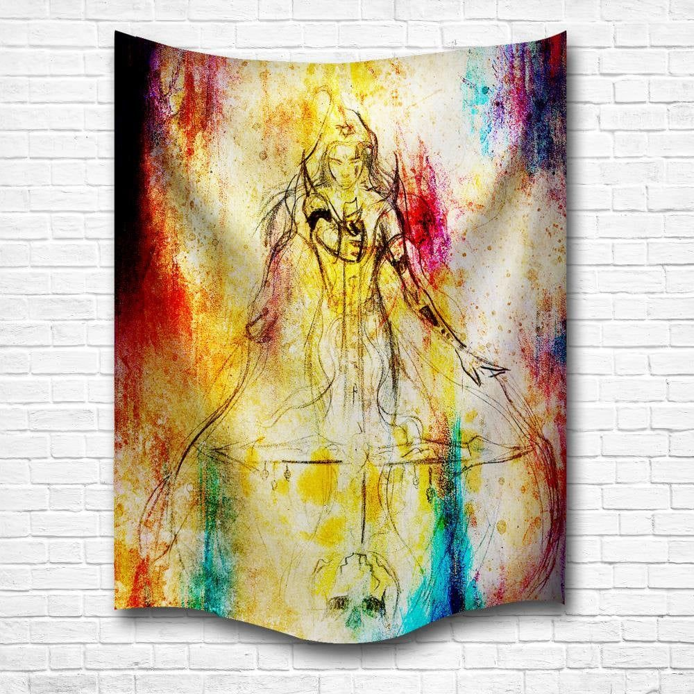 Watercolor Woman Warrior 3D Digital Printing Home Wall Hanging ...
