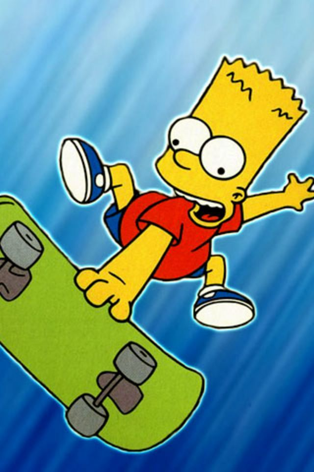 Bart Simpson Skateboarding Bart Simpson Hd Wallpaper Android Android Wallpaper