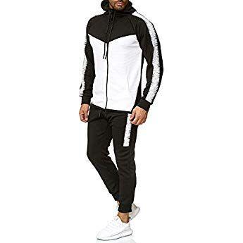 e94994fe2a9d6 OneRedox Herren Jogginganzug Sportanzug Trainingsanzug Sweatshirt Hose Jogging  Anzug Modell 1053 Schwarz S