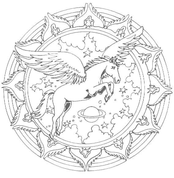 Mandala licorne #mandala #mandalas #coloriage | mandala color pages ...