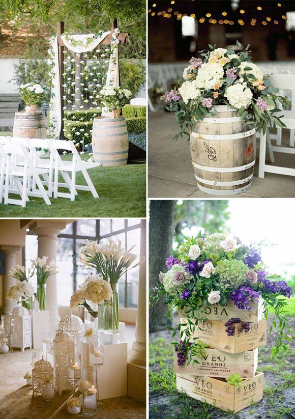 decoración de bodas con hortensias - ideas e inspiración